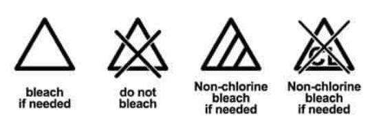 etichette per tessuti lavaggio candeggio