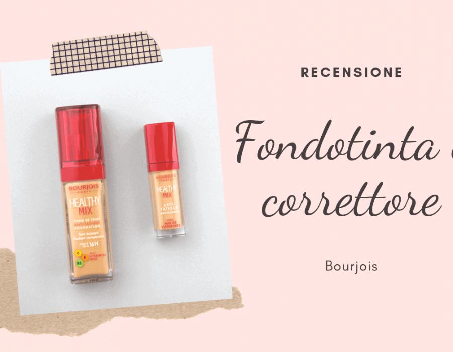 Recensione fondotinta e correttore Healthy mix di Bourjois