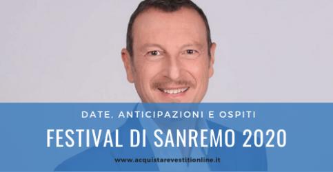 Festival di Sanremo 2020; ecco le anticipazioni