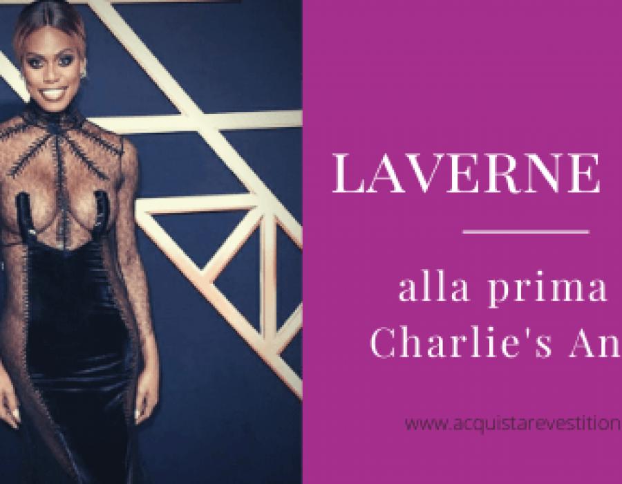Laverne Cox super sexy alla prima di Charlie's Angels