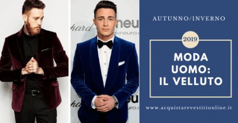 Moda maschile 2019: regna il velluto