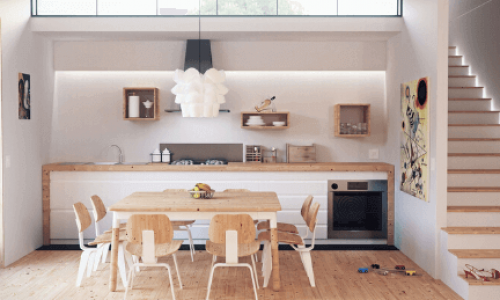 Cucina senza pensili: idee e soluzioni